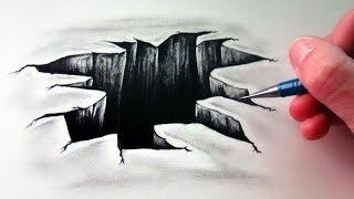 getlinkyoutube.com-How to Draw a 3D Hole - Optical Illusion