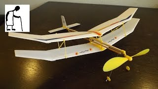 getlinkyoutube.com-Let's assemble a rubber band powered plane kit