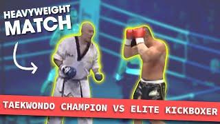 getlinkyoutube.com-Heavyweight Taekwondo Champion vs. Elite Kickboxer | Lawrence Kenshin