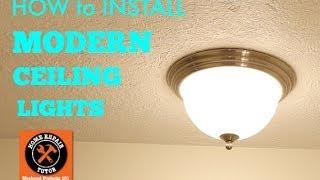 getlinkyoutube.com-Modern Ceiling Lights (how to install) -- by Home Repair Tutor