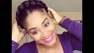 Halo Braid on short natural hair| Protective Style