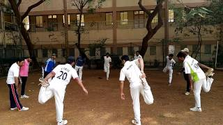 Cricket Warm Up Training with MVLU College Cricket Team