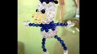 طريقة عمل ميداليه بطوط من الخرز _ هنا قنديل _ Donald Duck of beads