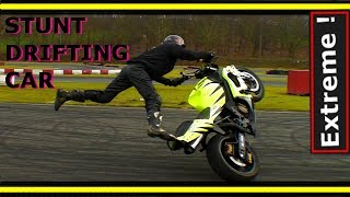 "getlinkyoutube.com-Stunt drift (Car & Bike)""Streetfighterz""  motorcycle 2014 - 2015"