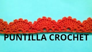 getlinkyoutube.com-Puntilla N° 13 en tejido crochet tutorial paso a paso.