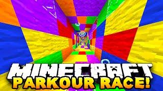 getlinkyoutube.com-Minecraft - ONE vs ONE PARKOUR RACE! (Degious Parkour!) - w/ Preston & Kenny