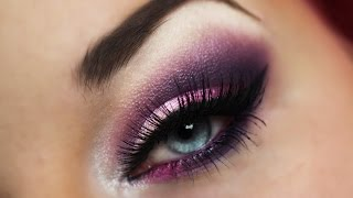 getlinkyoutube.com-Violet/Lila Make-up Tutorial / Smokey Eyes / Super einfache Schmink Anleitung