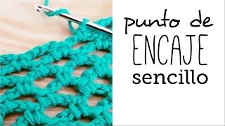 getlinkyoutube.com-Cómo tejer PUNTO de ENCAJE (red o calado) sencillo a Crochet