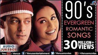 90's Evergreen Romantic Songs | Most Romantic Hindi Songs | Audio Jukebox | Hindi Love Songs width=