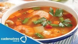 getlinkyoutube.com-Receta para preparar caldo de camarón.