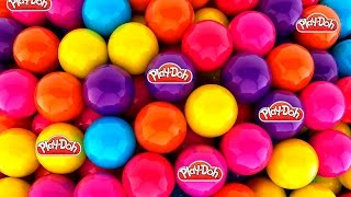 getlinkyoutube.com-Play Doh Surprise eggs Playdo peppa pig plastilina Huevos Sorpresa