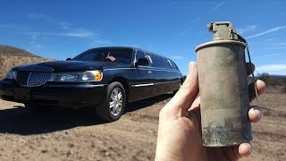 getlinkyoutube.com-Will A Thermite Grenade Blow Up A Limo?
