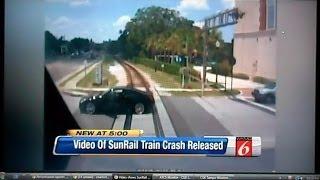 getlinkyoutube.com-Sunrail Commuter Train Crashes Into Car At Crossing On Camera