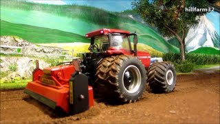 getlinkyoutube.com-RC TRACTOR at dusty field work - farm toy action