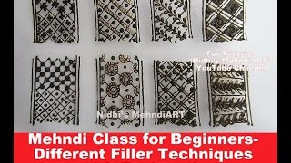 getlinkyoutube.com-Mehndi Class for Beginners- Different Filler Techniques for Bridal Arabic Henna Design with Explanat
