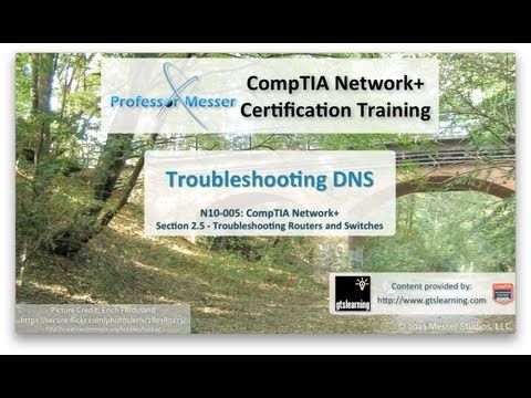 CompTIA Network+ N10-005: 2.5 - Troubleshooting DNS