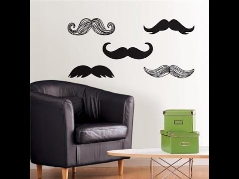 (DIY) Cómo decorar una pared con bigotes. ¡Súper original y fácil!!!