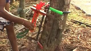getlinkyoutube.com-Advance Coconut Tree Climber