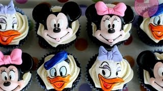 getlinkyoutube.com-How to Make Mickey & Minnie Cupcake Toppers; McGreevy Cakes