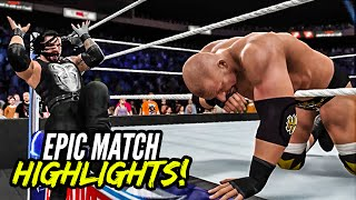 getlinkyoutube.com-WWE 2K16 Wrestlemania 32 HHH vs. Roman Reigns | Epic Match Highlights!