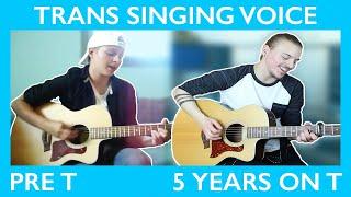 getlinkyoutube.com-FTM Singing Voice on T Comparison (Pre T to 5 Years) || Jeff Miller