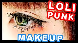 getlinkyoutube.com-Japanese Kawaii LOLI-PUNK Makeup tutorial|森永めるのロリパンメイク2016年版