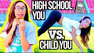 getlinkyoutube.com-High School You Vs. Child You!