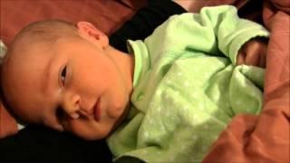 Newborn Baby Sleeping with Eyes Open