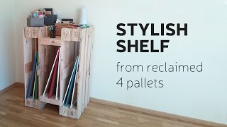 getlinkyoutube.com-How To Make a Stylish Shelf From Reclaimed 4 Pallets