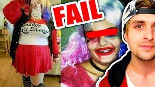 Harley Quinn FAILS... LOL | Los PEORES disfraces de Halloween