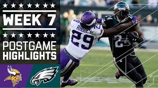 getlinkyoutube.com-Vikings vs. Eagles (Week 7) | Game Highlights | NFL