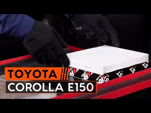 How to replace pollen filter TOYOTA СOROLLA E150 Saloon TUTORIAL | AUTODOC