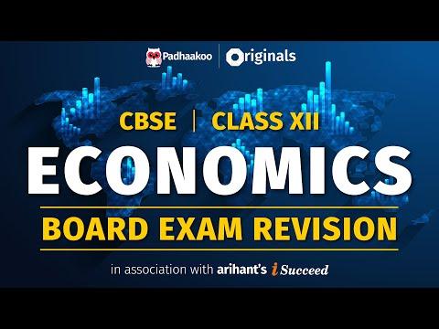 CBSE Exams 2020   Economics Revision   Class 12
