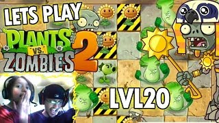 getlinkyoutube.com-Dad & Kids play Plants vs. Zombies 2: Ancient Egypt Level 20: Endangered Plants (iOS Face Cam)