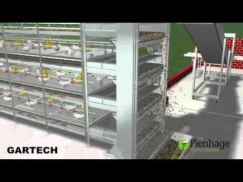 GARTECH FIENHAGE , layer battery cages , jaulas de Pollos Engorde