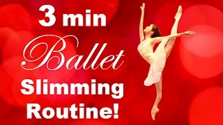 getlinkyoutube.com-How To: Get a SLIM & FIT Body in 3 MINUTES! バレエダイエットでほっそり!Ballet Fitness