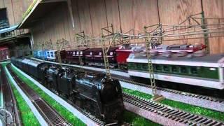 getlinkyoutube.com-HOゲージ鉄道模型、架線集電化