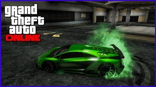 "getlinkyoutube.com-GTA 5 Online - How To Get SECRET RARE Paint Jobs ! ""OHGEE GREEN"" ( GTA 5 Rare Paint Jobs )"