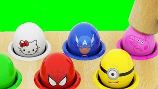 Character Surprise Eggs Learn Colors with Whac a Mole for Kids Children Toddlers Kids Baby Toys