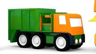 getlinkyoutube.com-Cartoni animati per bambini: Macchinine colorate e il camion della spazzatura