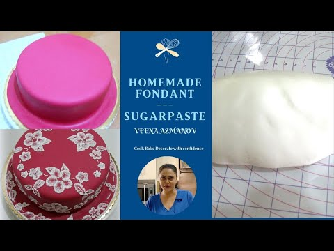 Homemade Fondant Recipe by Veena's Art of Cakes