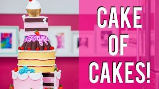 getlinkyoutube.com-How To Make A CAKE OF CAKES! Chocolate, Coconut Raspberry and Pink Vanilla!
