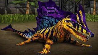getlinkyoutube.com-Megalosaurus VS Secodontosaurus - Jurassic World The Game
