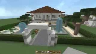 Minecraft Tutorial - Wie baue ich eine kleine Luxusvilla? [NEU: Download]