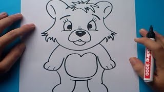 getlinkyoutube.com-Como dibujar un oso de peluche paso a paso 5 | How to draw a teddy bear 5