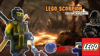 getlinkyoutube.com-Lego Scoprion Custom Minifigure [Mortal Kombat 9] [PlayHunterChan]
