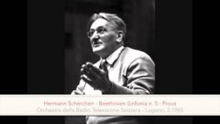 Hermann Scherchen - Beethoven 5. Symphony (rehearsal in italian)