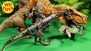 getlinkyoutube.com-JURASSIC WORLD BASHERS & BITERS VELOCIRAPTOR BLUE Dinosaur UNBOXING, REVIEW BY WD TOYS