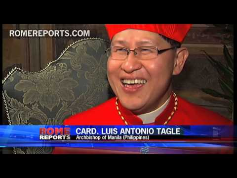 Cardinal Tagle  The second youngest and the most popular on Facebook
