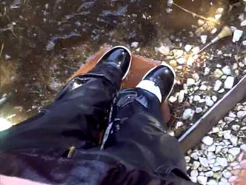 Wet Jeans and Michael Jordan shoes